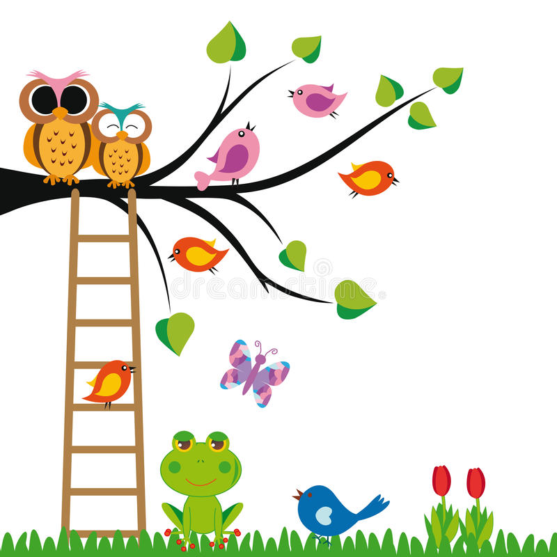 Download Funny kids background stock illustration. Image of cute - 24553999