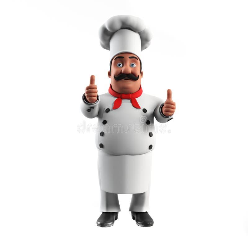 Funny kitchen chef royalty free illustration