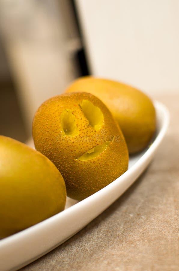 Funny kiwi fruit stock photo