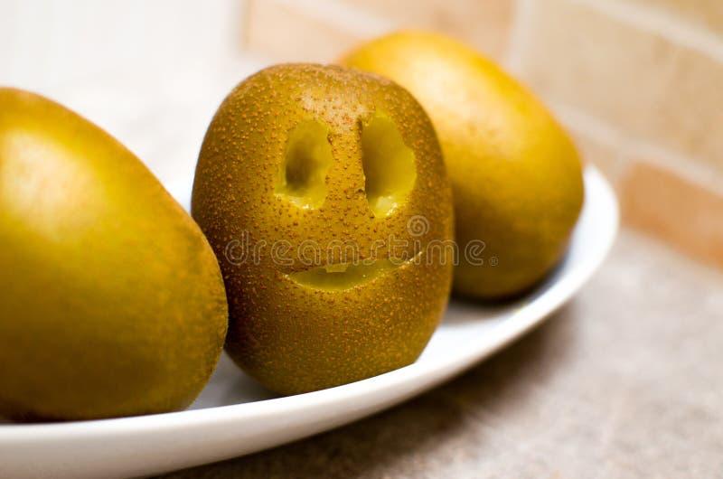 Funny kiwi fruit stock photos