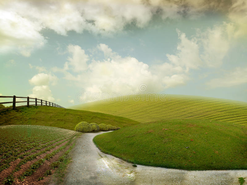 Funny landscape royalty free stock images