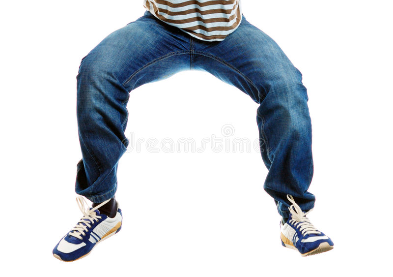 Download Funny Legs Falling Down The Air Stock Image - Image: 5199003