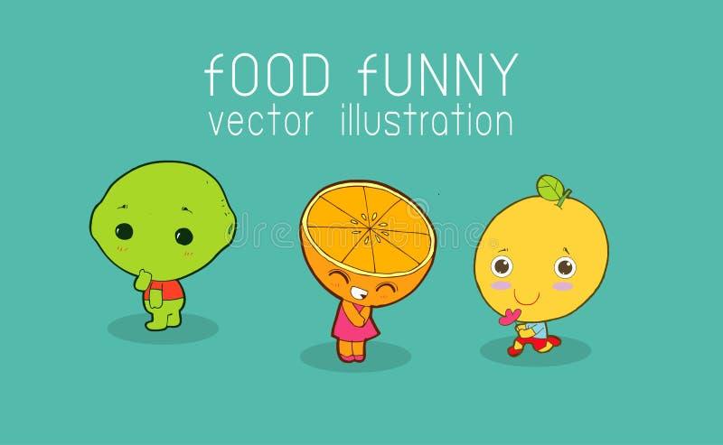 Funny lemon set. Lemon, Slice of lemon, Cute fruit vector character vector illustration. Funny lemon set. Lemon, Slice of lemon, Cute fruit vector character vector illustration