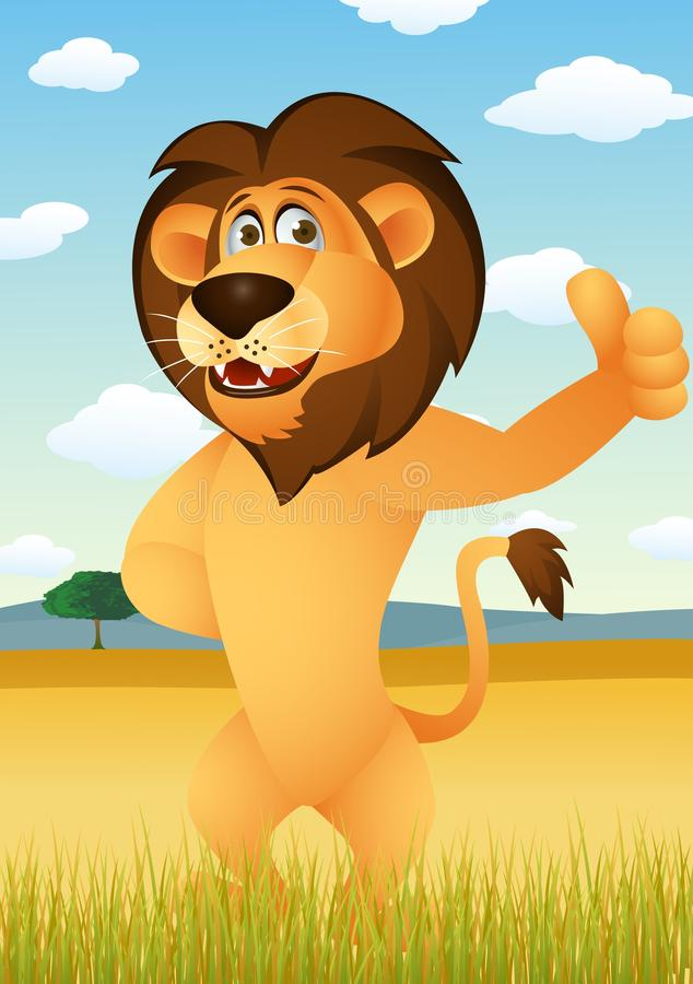 Download Funny lion cartoon stock vector. Illustration of lioness - 25127211