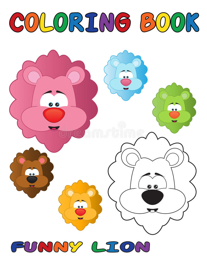 Download Funny Lion - Coloring Book stock vector. Image of contour - 16445233