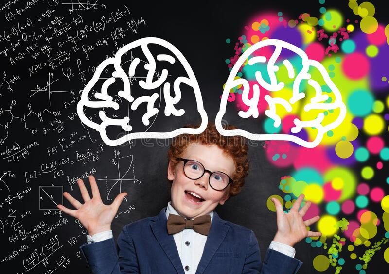 Funny little boy in glasses having fun. School`s out for summer. Celebrating the end of another successful school year stock images