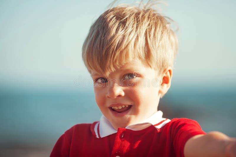 Funny little boy stock photos