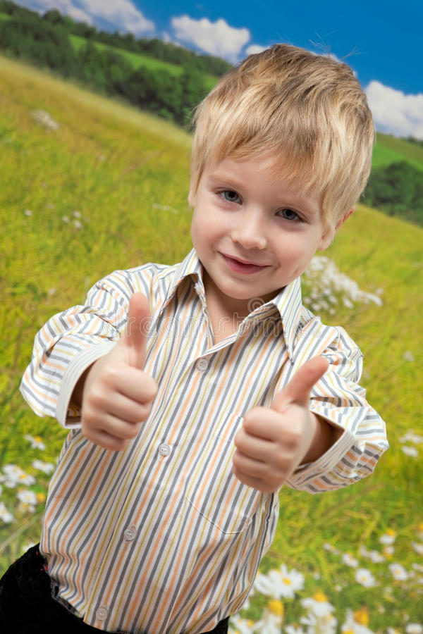 Free Funny Little Boy Showing OK Royalty Free Stock Photography - 17044087