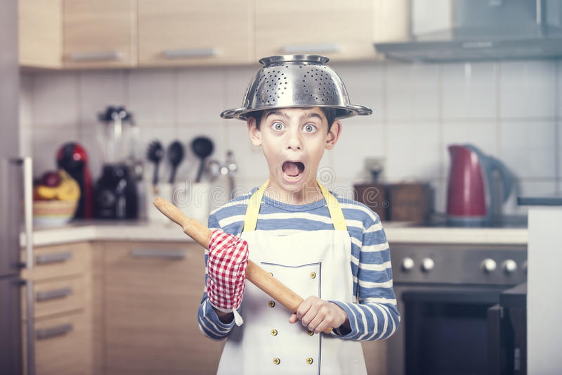 Funny little chef royalty free stock images