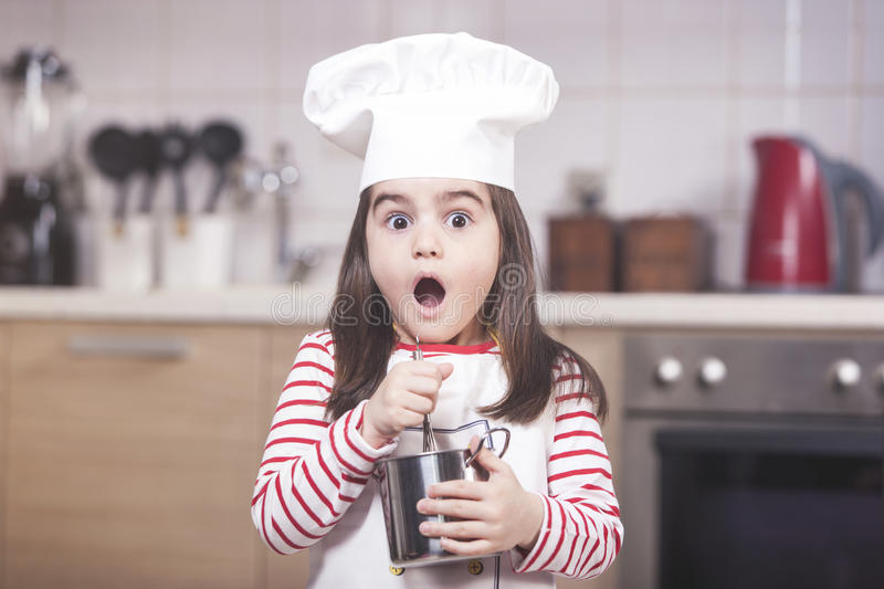 Funny little chef royalty free stock image