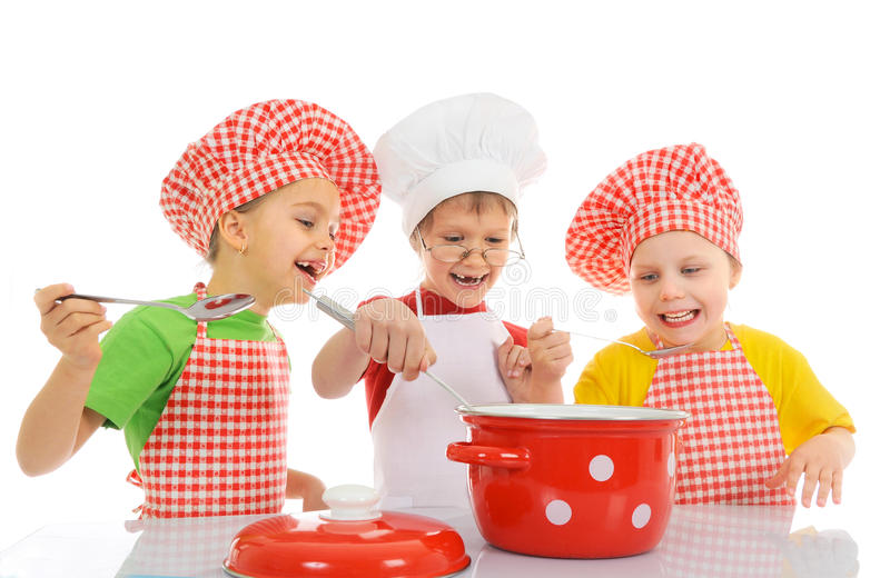 Download Funny little chefs stock image. Image of idea, closeup - 33722473