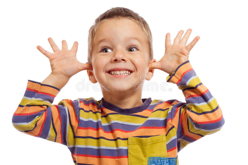 Funny little children stock images