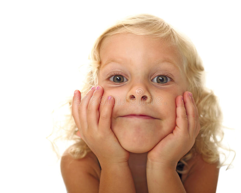 Download Funny little girl stock photo. Image of pretty, beautiful - 15368378