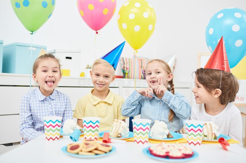 Funny kids royalty free stock image