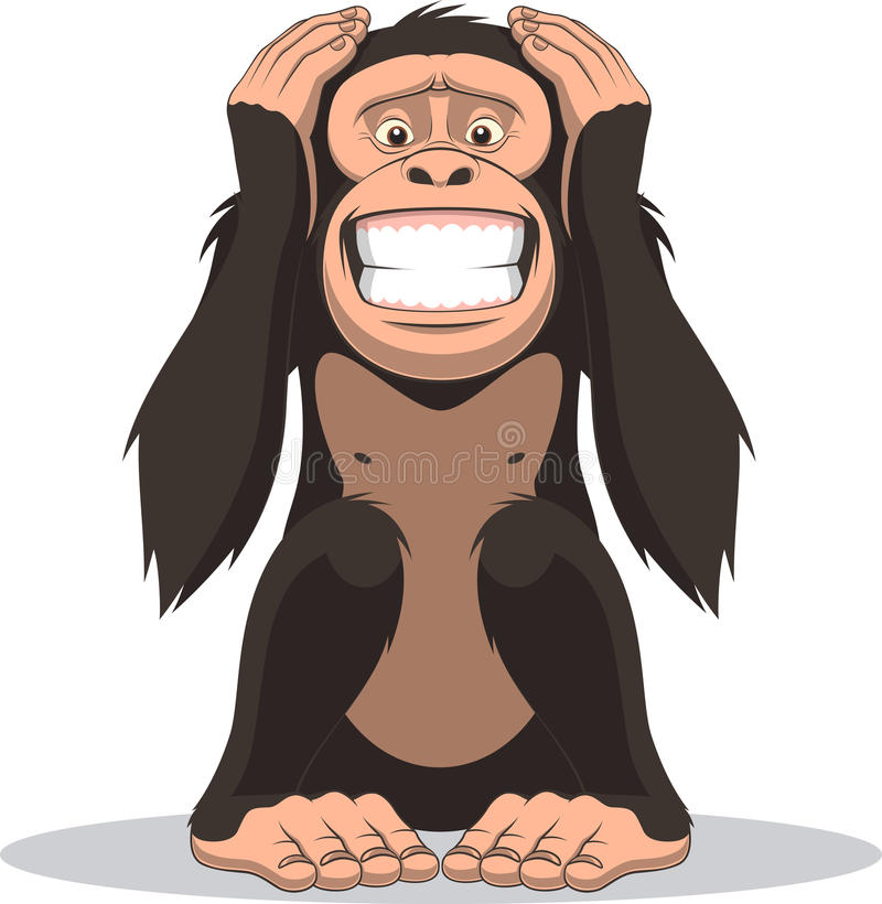 Funny little monkey stock illustration