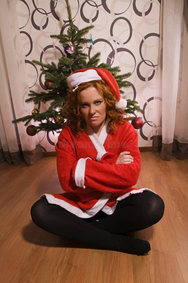 Free Funny Looking Bad Santa Girl Stock Photos - 26478393