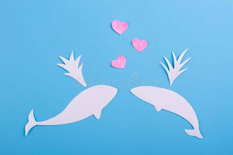 Funny love concept. Love underwater. valentine day royalty free stock images