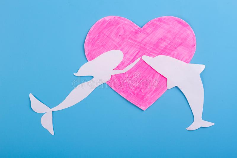 Funny love concept. Love underwater. valentine day royalty free stock photos