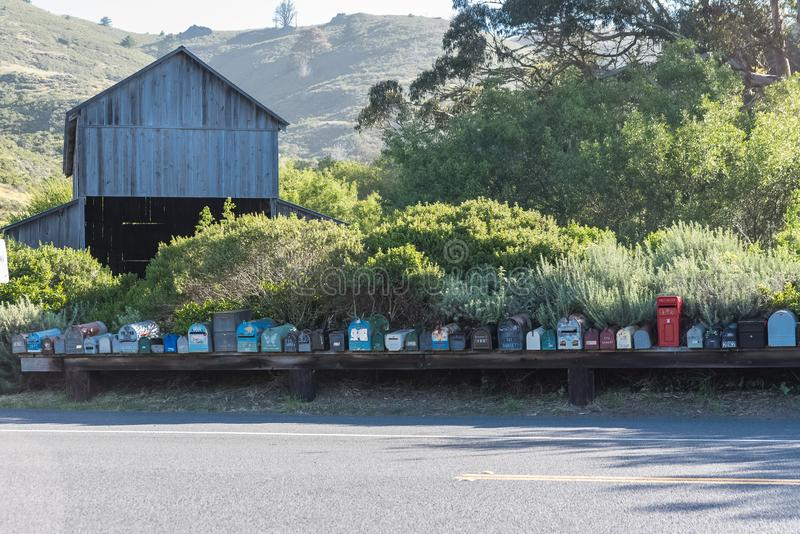 Funny mailboxes stock photos