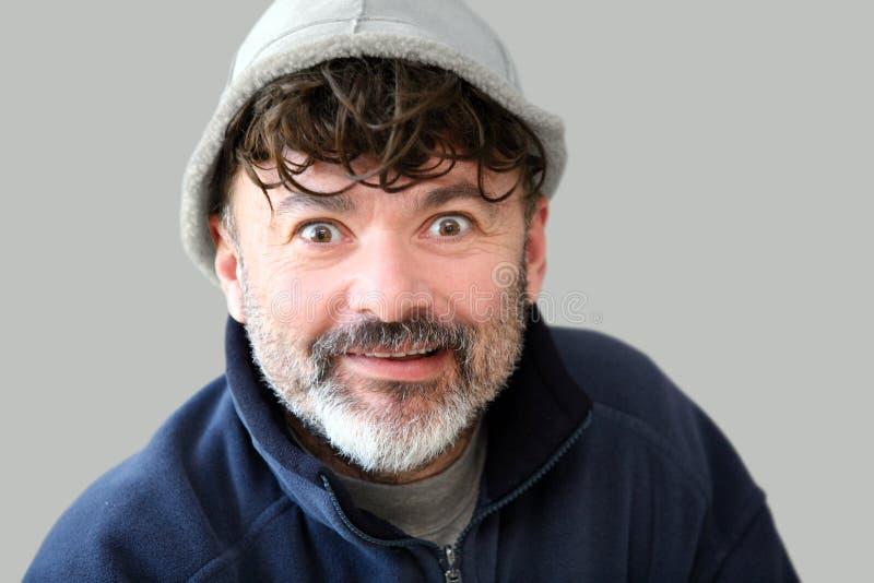 Funny man stock photo