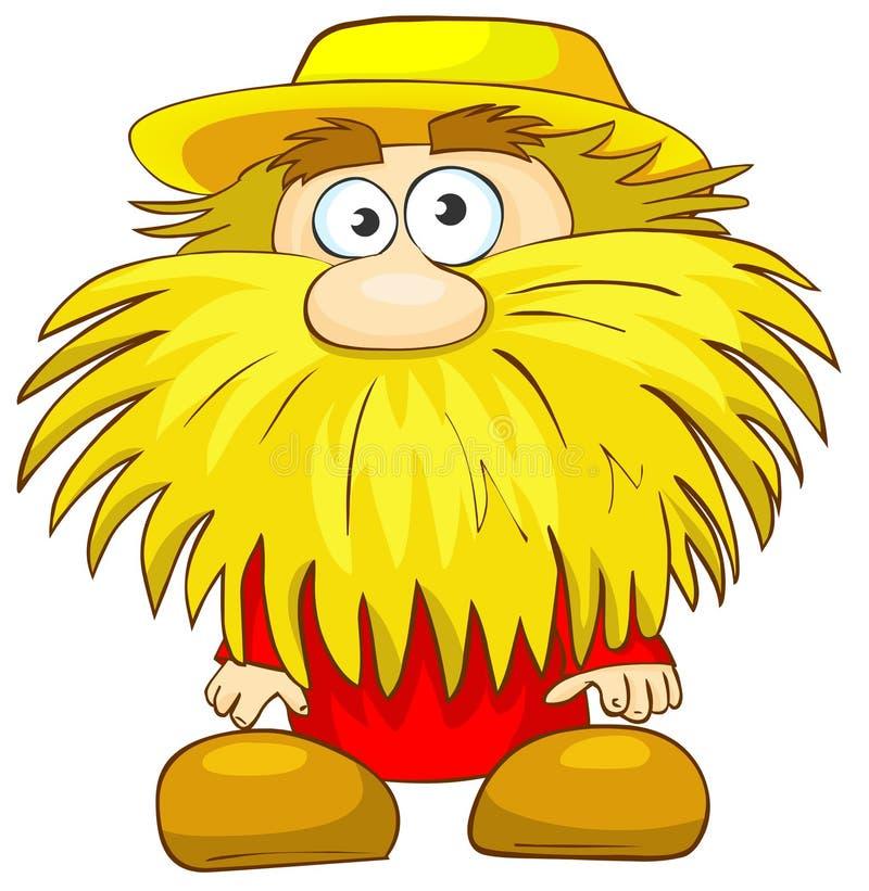 Download Funny man with beard. stock illustration. Illustration of dwarf - 19376363
