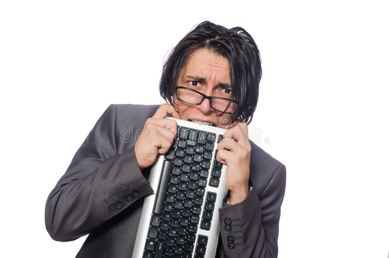 Funny man in business concept. The funny man in business concept stock photography