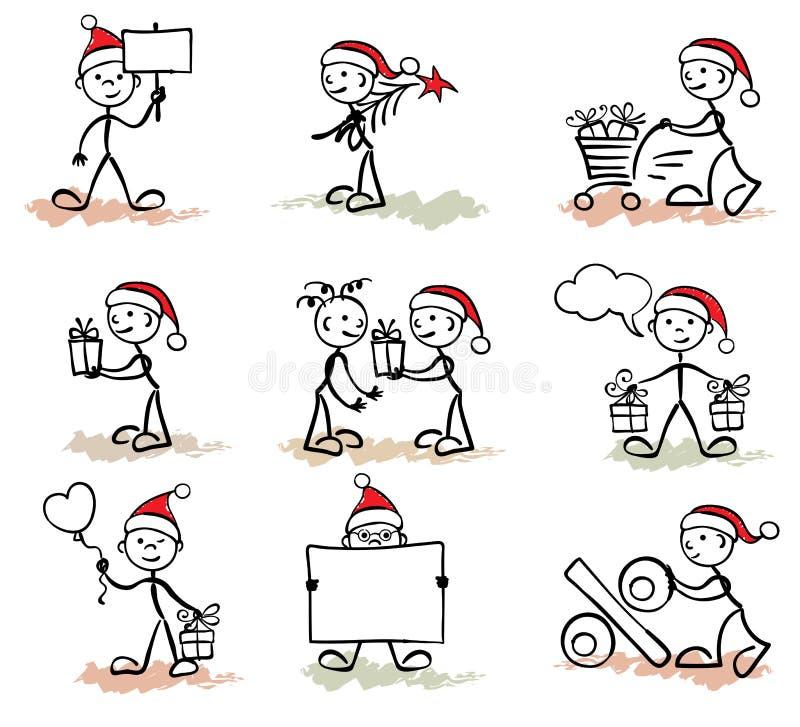 Funny man -- christmas royalty free illustration