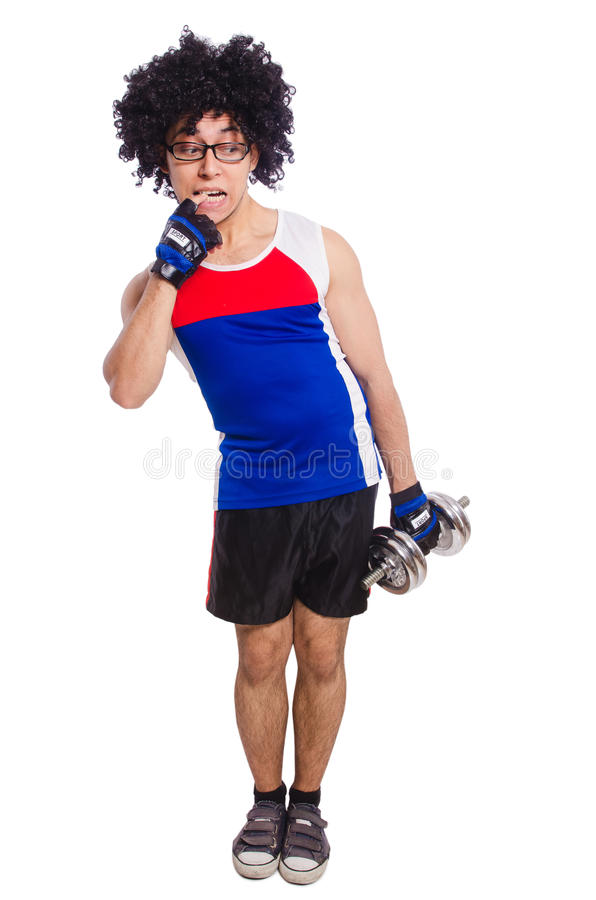 Download Funny Man Exercising Royalty Free Stock Image - Image: 36980596
