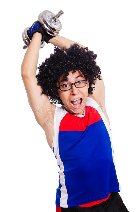 Download Funny man exercising stock image. Image of male, heavy - 36980699