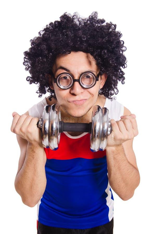 Download Funny man exercising stock image. Image of health, bodybuilder - 36980941