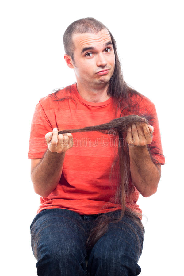Download Funny Man With Long Shaved Hair Stock Photo - Image: 26082438