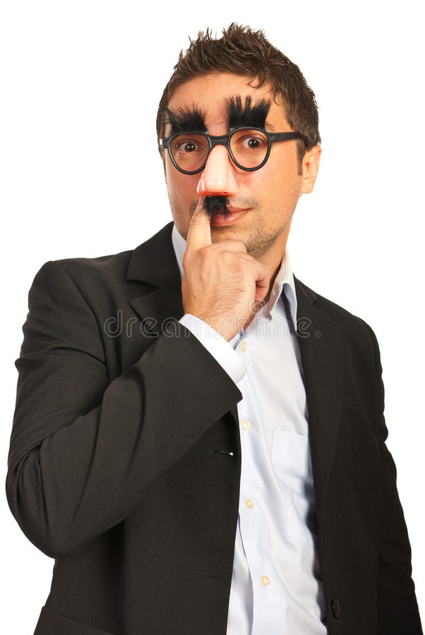 Download Funny man with mask stock photo. Image of manager, comic - 27794254
