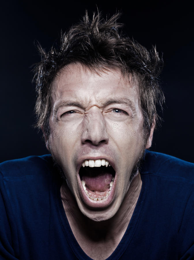 Download Funny Man Portrait Screaming Stock Photo - Image: 22224990