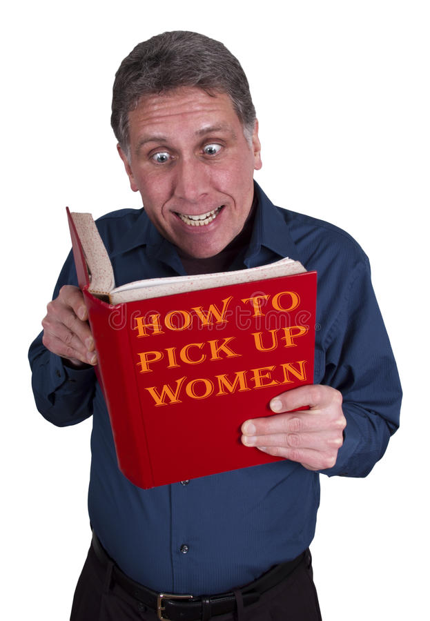 Free Funny Man Read Book, Dating, Looking For A Date Stock Image - 17964471