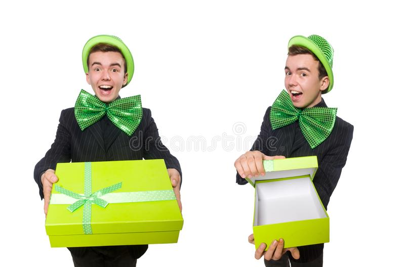 The funny man in saint patrick holiday concept. Funny man in saint patrick holiday concept royalty free stock photography