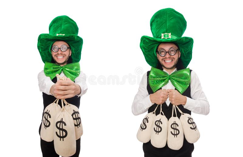 Funny man in saint patrick holiday concept royalty free stock image