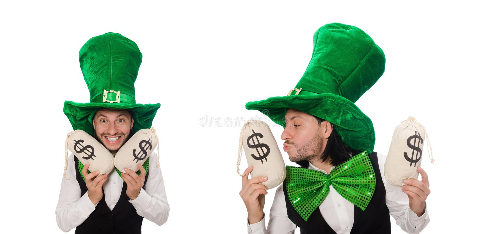 Funny man in saint patrick holiday concept royalty free stock photos