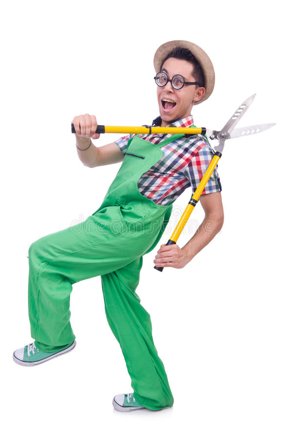 Download Funny Man With Shears Royalty Free Stock Photos - Image: 32217988
