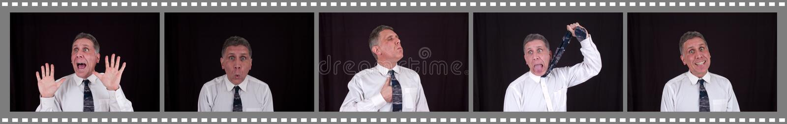Funny Man in Shopping Mall Photo Booth royalty free stock photo