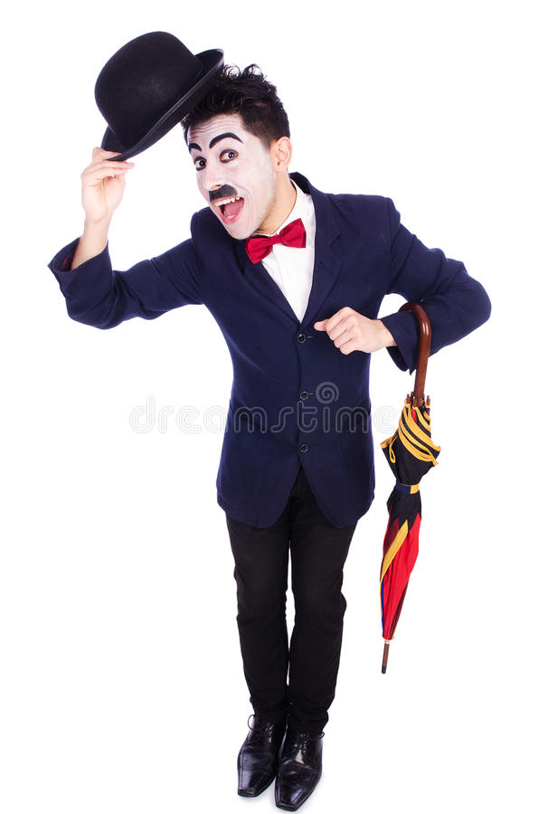 Download Funny man with umbrella stock image. Image of retro, moustache - 34469429