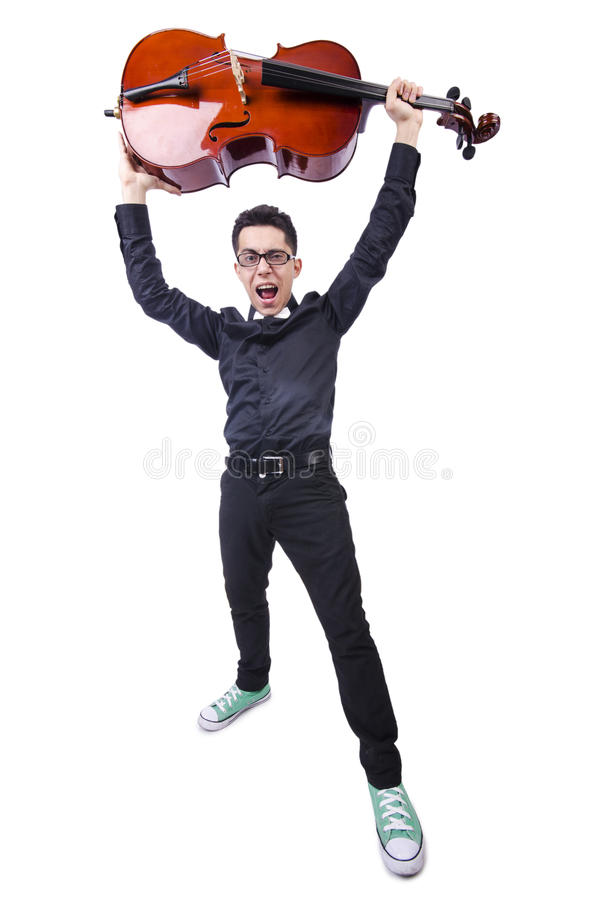 Download Funny man with violin stock image. Image of fiddlestick - 32811773