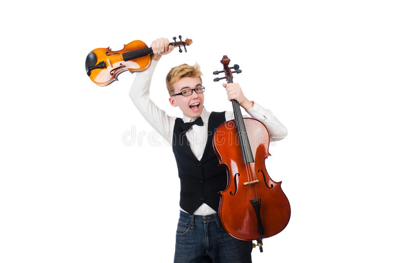 Download Funny Man With Violin Stock Photo - Image: 39761139