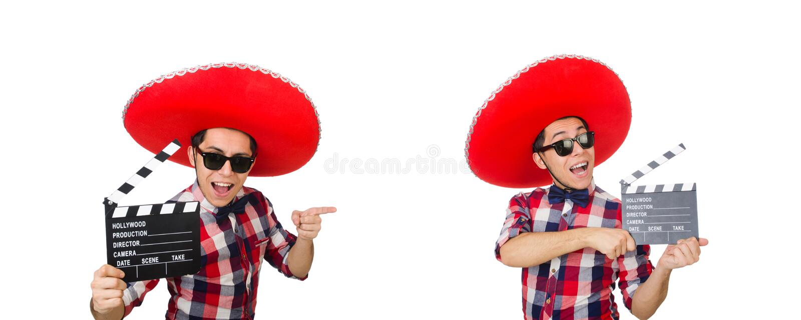 Funny mexican with sombrero in funny concept royalty free stock photos