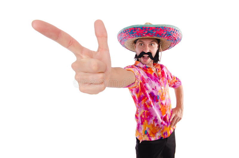 Funny mexican royalty free stock photo