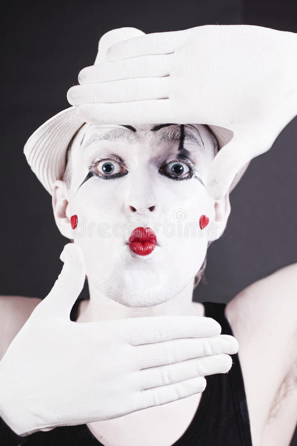 Funny mime stock photography