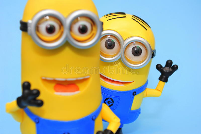 Funny minions: Dave and Kevin stock photography