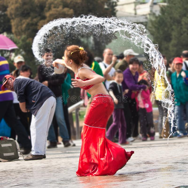 Free Funny Moment In Performance Of Water Festival, Beijing Stock Image - 109519841