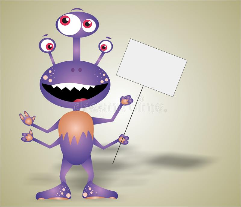 Funny monster stock image
