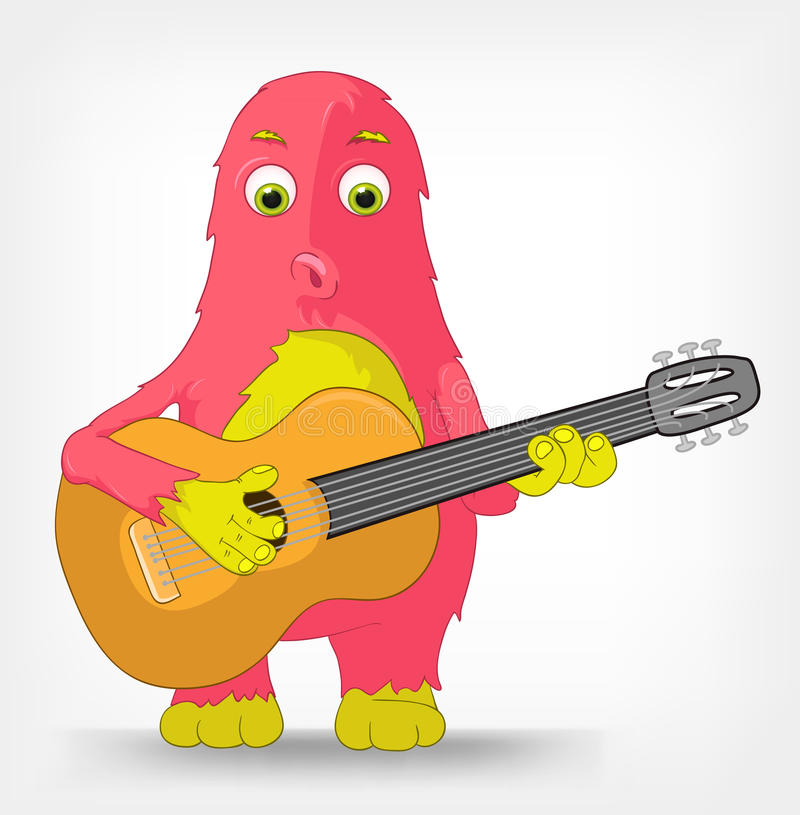 Download Funny Monster. Guitarist. Stock Photo - Image: 25832620