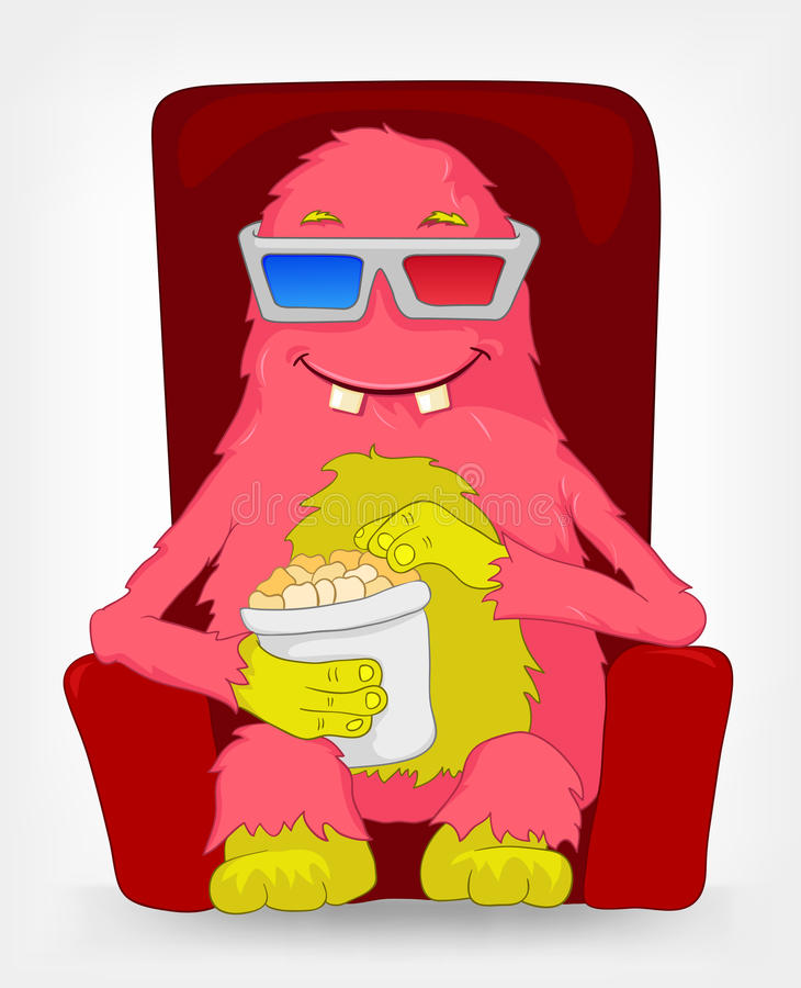 Download Funny Monster. Movie. Stock Image - Image: 25835601
